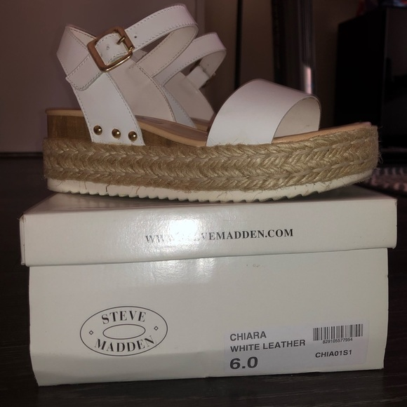 bd894de6b Steve Madden Chiara - White Leather. M 5b64fe48fb3803be21b580cb